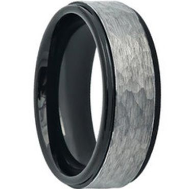 (Wholesale)Tungsten Carbide Hammered Ring - TG4598