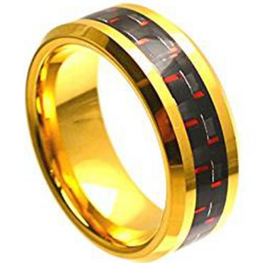 (Wholesale)Tungsten Carbide Ring With Carbon Fiber - TG795A