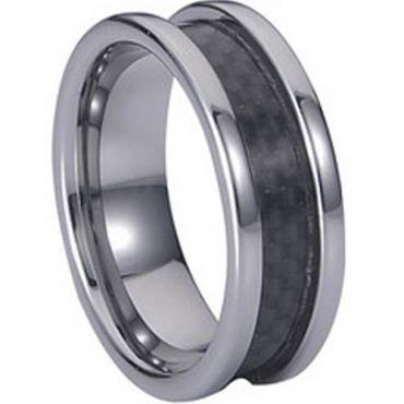(Wholesale)Tungsten Carbide Ring With Carbon Fiber-TG808