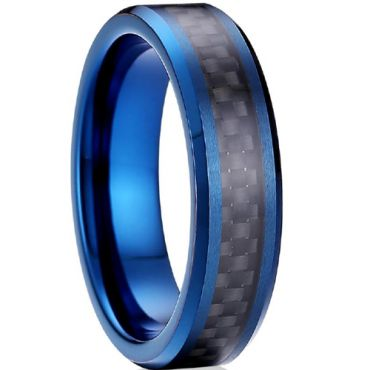 (Wholesale)Tungsten Carbide Ring With Carbon Fiber - TG4120A