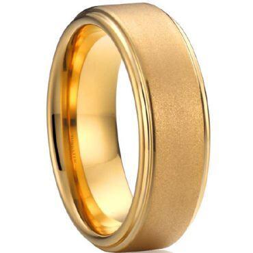 (Wholesale)Tungsten Carbide Sandblasted Ring - TG4124A